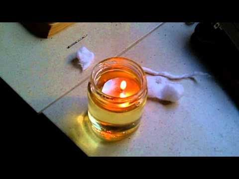 DIY Floating Oil Candle using Vegetable Oil