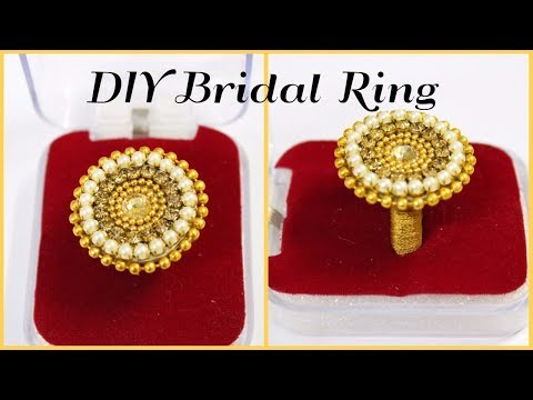 DIY Paper Ring: How to make designer bridal ring from paper at home + Big Surprise at the end I C.D