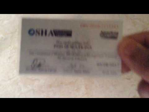 Achievements & Accomplishments Episode 1 Showing OSHA 10 General Industry Wallet Card