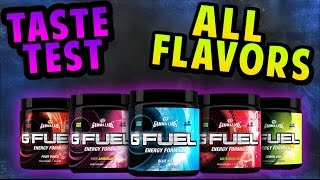 All G-fuel Flavors Taste Test! - Faze Berry - Blood Orange - Blue Ice - And More!