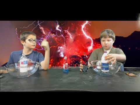 Science with Tristen & Jessie - Pop Rocks Volcano