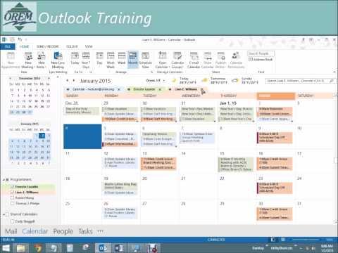 Desktop Outlook 2013: Calendars, Part 4