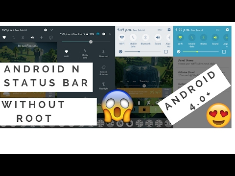 How to get Android N status bar & notification panel.
