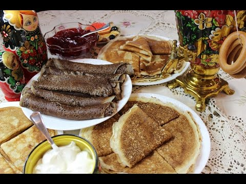 Making 4 different types of Russian Blini for Maslenitsa!!!