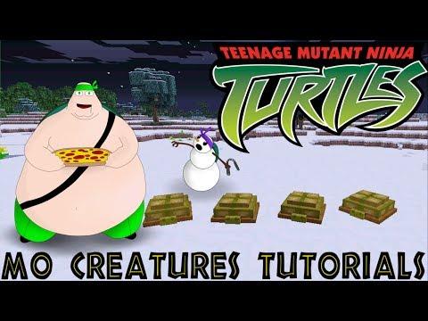 Minecraft Mo Creatures Tutorial - Teenage Mutant Ninja Turtle Pets