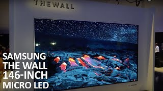 "Samsung The Wall 146"" Micro LED Home Cinema Display at CES 2018"