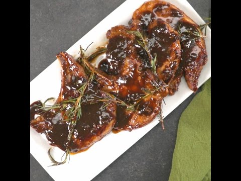 Honey Balsamic Glazed Pork Chops