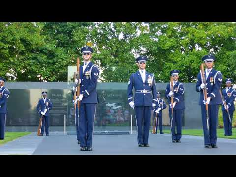 US Air Force Honor Guard Drill Team - Sept. 15, 2017