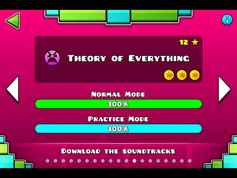 Geometry Dash | Level 12 | Theory of Everything | 1 attempt | (insane) 100%