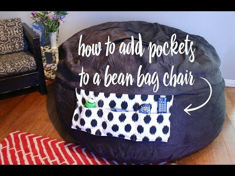 How to Add Pockets to a Bean Bag Chair