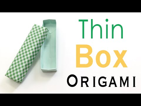 Origami Paper Long Wide Box With Lid  - Origami Kawaii〔#064〕