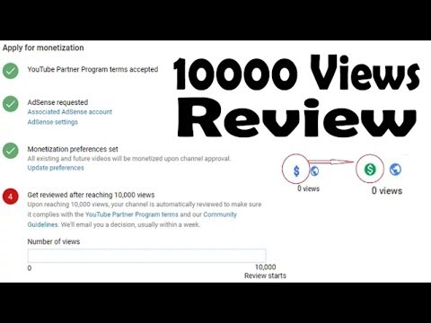 How to Enable Monetization after reaching 10k Views as per New Rule10000 views on youtube
