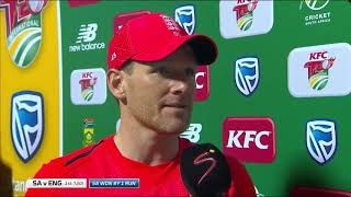 South Africa v England | T20 Series | 1st T20 | Post-match interview with Eoin Morgan