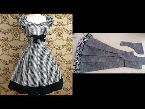 top stylish & beautiful designer frock cutting step by step easy to make