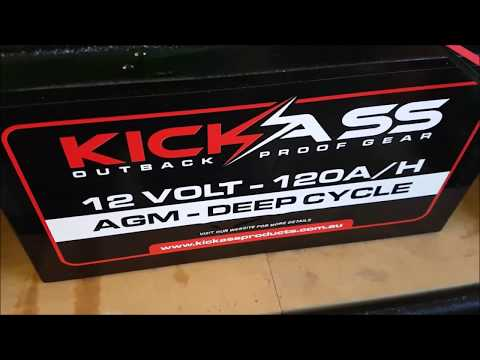 KickAss 120AH AGM Deep Cycle Battery Test