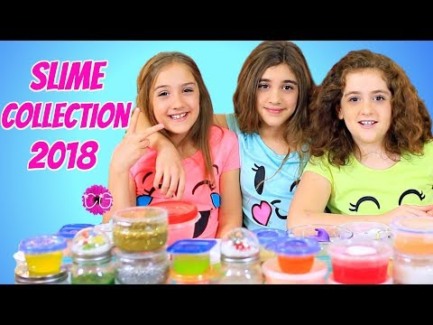 Slime Collection 2018 & New Year's Glitterbomb Slime!
