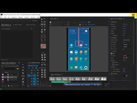 How to draw arrow in Adobe Premiere Pro CC 2018
