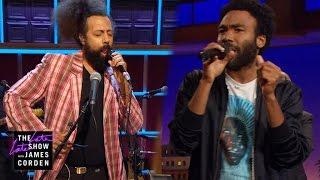 Donald Glover Reggie Watts Make Music