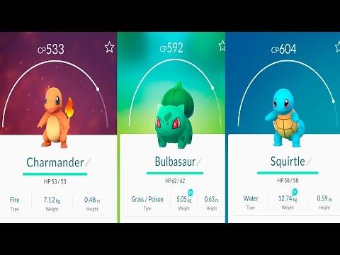 BULBASAUR SQUIRTLE CHARMANDER EVOLUTION | Pokemon Go | THE STARTING POKEMONS