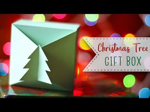 Interlocking Christmas Tree Paper Gift Box Tutorial 🎁  Craftmas