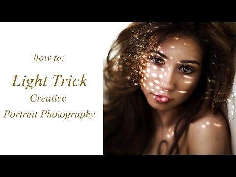 Creative DIY Portrait Tutorial using just Light ( Light Dots) Photoshoot Ideas