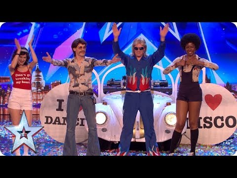 All the way from SAN FRAN-DISCO It's DJ Murray Mint! | Auditions | BGT 2018