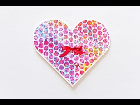 How to Make - Greeting Card Heart - Step by Step   Kartka Okolicznościowa Serce