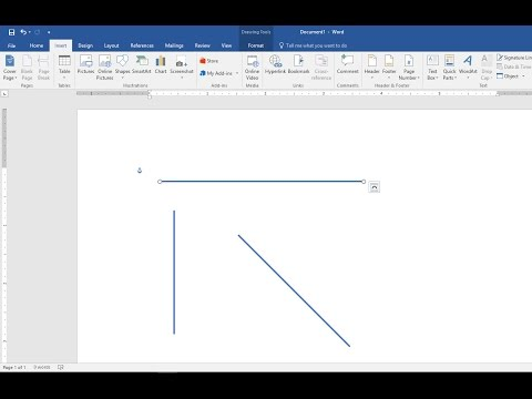 How to Draw Straight Lines Vertical & Horizontal in MS Word (2003-2016)