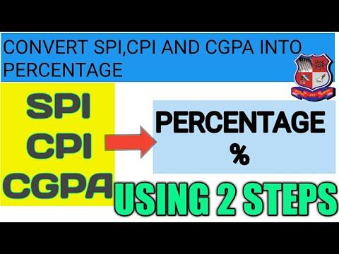 Convert spi cpi cgpa into percentage convert spi into percentage convert cgpa to percentage