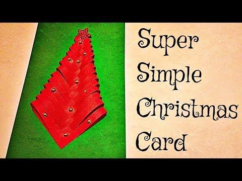 DIY How To Make A Beautiful Christmas Tree Card | Easy Greeting Card