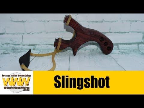 I make a slingshot catapult - Off the Cuff - Wacky Wood Works.