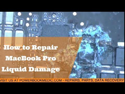 Macbook Pro Liquid Damage Repair on a 2016 Board 820-00281