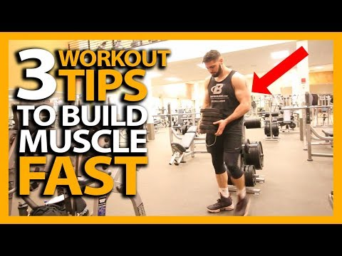 3 Workout Tips to BUILD MUSCLE FAST! (How To Gain as Much Muscle as Possible)