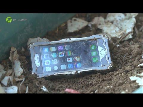 R-JUST IP68 Waterproof Diving Aluminum Metal Case Cover for iPhone6 4.7/Plus 5.5