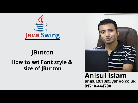 Java Swing Bangla Tutorial 30 : How to set Font style & size of JButton