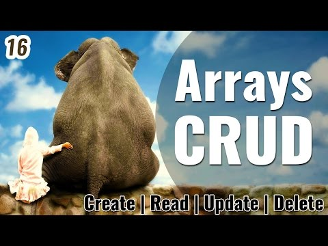PHP Array CRUD | Create Read Update & Delete Arrays | Learn PHP in Hindi /Urdu