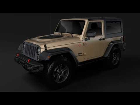 3D Model of Jeep Wrangler Rubicon Recon JK 2017