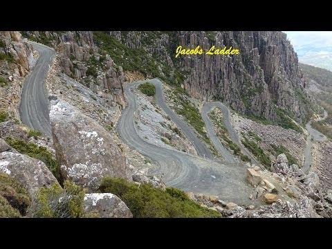 Crazy mad road in Tasmania - Jacobs Ladder - Ben Lomond National Park