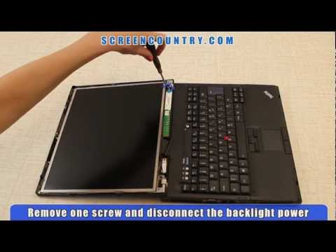 Laptop Screen Replacement / Removal Instructions for IBM Thinkpad T60