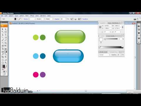 Creating Glass Buttons In Illustrator