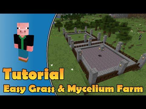 Minecraft - Super Simple Grass And Mycelium Block Farm - Minecraft PC, Wii-U, Playstation, Xbox, PE