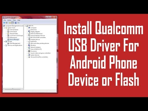 QUALCOMM Driver Install For Android Qualcomm Processor | Qualcomm USB Driver With File | Method 2017