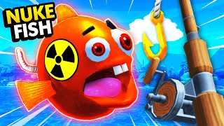 Catching NUKE FISH On SECRET TREASURE HUNT In VR (Crazy Fishing Virtual Reality Funny Gameplay)