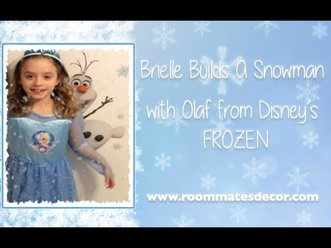 Do You Want To Build a Snowman? Build Frozen's Olaf With Brielle!