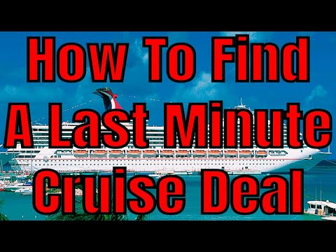How To Find Last Minute Cruise Ship Deal 2018 Finding Cruise Vacation Bargains