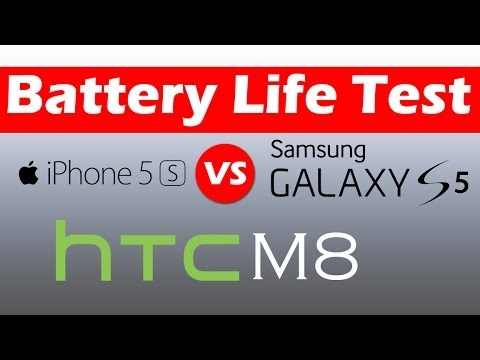 Samsung Galaxy S5 vs iPhone 5S vs HTC One M8 Real Battery Life Test