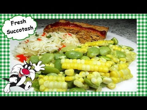 Simple Easy Fresh Succotash  ~ Homemade Corn Lima Bean Side Dish Recipe