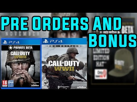 Call of duty WW2 Pre-Orders and Bonuses Details!
