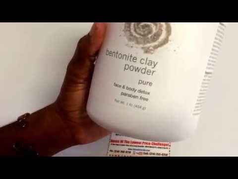 How To Use NOW 100% PURE BENTONITE CLAY BENEFITS For Healthy Face and Body Detox