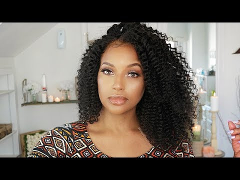 Natural Hair or Wig?  Natural Looking Kinky Curly 360 Wig!